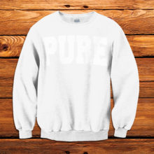 PURE | White on White Sweatshirt