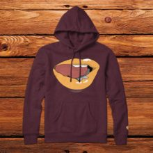 Pleasure & Pain Hoodie Maroon Tan