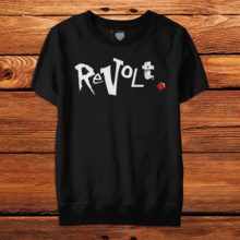 Revolt Shortsleeve Sweatshirt Black