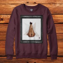 Legs Up Maroon Sweatshirt
