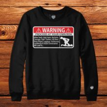 Warning Black Crew Neck | Unfltrd Passion
