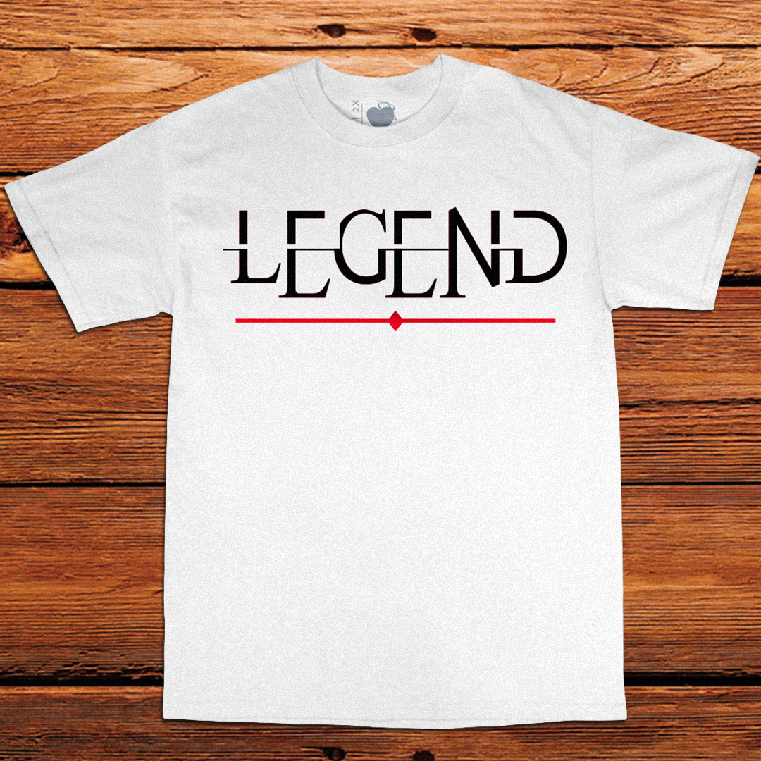 Legend White Tee by Unfltrd Passion