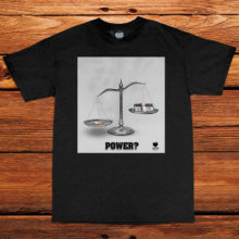 Power Black Tee by Unfltrd Passion